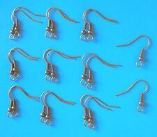 20 Paire Antique Gold Ear Wires, grand-Poisson Crochet Style, conclusions pour bijoux