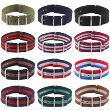 New 18-22mm Canvas Nylon Fiber Military Wrist Watch Strap Watch Band Belt Clasp