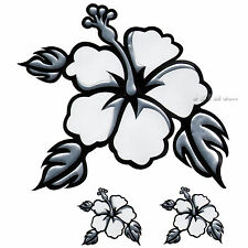 PILOT HAWAIIAN FLOWER 3D CHROME AUTO DECAL WINDOW BUMPER STICKER BOAT CAR TRUCKS