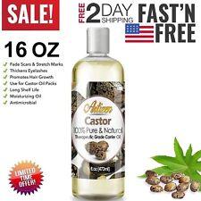 Castor Oil 100% Pure 16oz Organic Cold Pressed Hair Skin Eyelashes Eyebrows