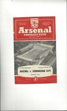 Arsenal v Birmingham City FA Cup Football Programme 1955/56