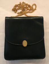 Vintage Jane Shilton Navy Leather Hand Bag Harrods 1990s
