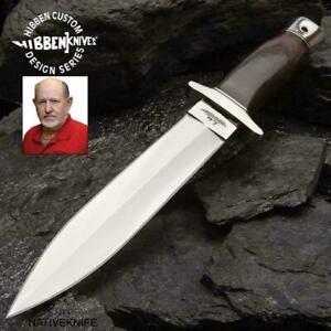 Gil Hibben Double Edge Full Tang Boot Knife Black Leather Sheath Boot Belt Clip