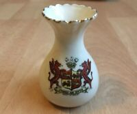 Vintage Crested China Arms Of Wales Collectable Ornament