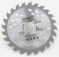 SUNDELY 115mm Angle Grinder saw blade for wood and plastic 24 TCT Teeth