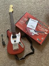 Rock Band 3 Wireless Fender Mustang Pro Guitar PS3 Stratocaster Red W/ DONGLE