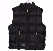 DIESEL Women Black Down Vest Gilet Bodywarmer, Size L