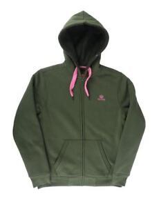 Navitas Women's Lily Green & Pink Sherpa Zip Hoody Hoddie *All Sizes* NEW Carp