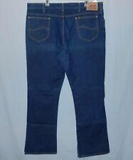 1980s Vintage Lee Rider Blue Jeans 40 x 32 Boot Cut Made USA Talon Zipper Tag 42