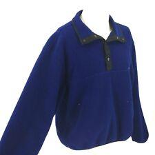 VINTAGE WOOLRICH - MEN'S XL - BLUE PULL OVER FLEECE JACKET ~ MADE USA