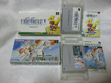 Lot 2 Final Fantasy V 5 & Tales Of Phantasia Super Famicom Snes Sfc Boxed