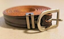 """Vintage 1950s Small Cat/Dog Dark Brown Leather Collar 1/3"""" Wide NOS Rare -- 2748"""