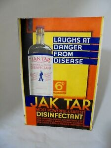 Vintage Jak Tar Disinfectant Advertising Sign