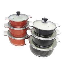 Batterie di pentole con coperchi in ceramica