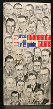 1972 Minnesota Twins Official Media Press Guide, 68 Pages!