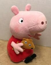 2016 Ty Beanie Babies PEPPA PIG With Teddy Bear Stuffed Plush Animal 7""