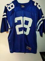 Marshall Faulk Indianapolis Colts Logo Athletic NFL Jersey Size Large