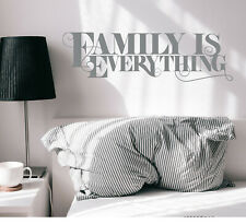 Vinyl Wall Decal Lettering Family Everything Stickers 35 in x 10 in Grey gz312