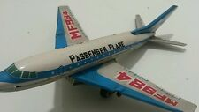 VINTAGE TIN TOY FRICTION JET MF 984 PASSENGER AIRPLANE AIRCRAFT  CHINA