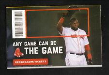 Boston Red Sox--David Ortiz--2014 Pocket Schedule--WB Mason