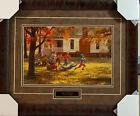 Thomas, Fall Football Boys Playing Art Print-Framed 27 x 21