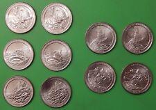 2012 US National Park Quarter Year Set (10 coins) Five P&Five D From Mint Rolls