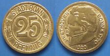 Germany Stadt Bonn 25 Pfennig 1920 Bethoven Bonn*1770 Notgeld coin (КГ004в)
