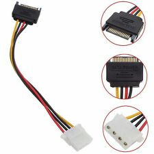 Male Power New Cable to Molex IDE 4-pin Female Power Drive Adapter SATA 15-pin P