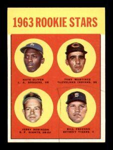1963 Topps Set Break # 466 Oliver Robinson Freeman Martinez VG-EX *OBGcards*