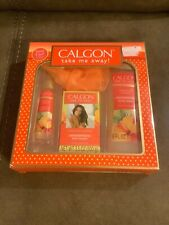 "CALGON ""TAKE ME AWAY"" HAWAIIAN GINGER 4 PC GIFT SET FOR WOMAN (NEW)"