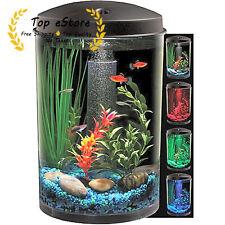 Fish 360 Starter Aquarium Kit 3 Gallon Tank With LED Lighting Filter Air Pump