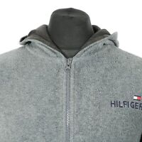 90s Vintage TOMMY HILFIGER Fleece Jacket   Hoodie Spell Out Retro Wavey