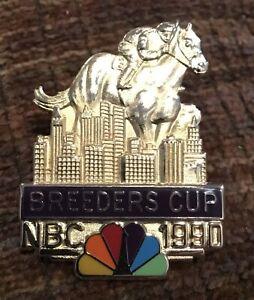 1990 Breeders Cup NBC Balfour High Quality Press Media Pin