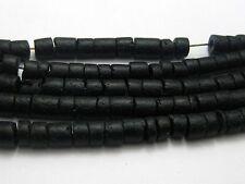 "5 Strands of 60cm(22"") Black Natural Coconut Heishi Beads 5mm"