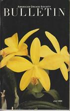 American Orchid Society Bulletin July 1989 (Softcover: Orchid)