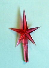 "Red Star 3"" Plastic Christmas Tree Ceramic NIP Replacement Ceramic Trees"
