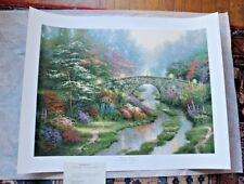 Stillwater Bridge by Thomas Kinkade SN Limited Edition 18 X 24