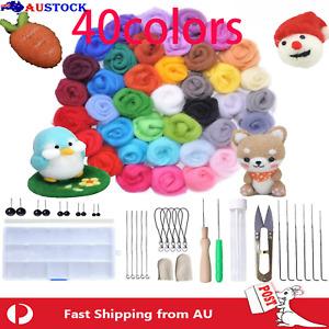 Wool Felt Needles Tool Set 40 Colors Needle Felting Starter Kit for DIY Craft