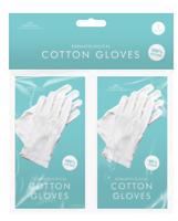 DERMATOLOGICAL COTTON GLOVES Absorption Of Hand Cream Skin Eczema 2 PACK