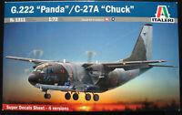 """ITALERI 1311 - G.222 """"Panda"""" / C-27A """"Chuck"""" - 1:72 - Flugzeug Modellbausatz Kit"""