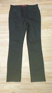 "Ladies Black Stretch High Waist Straight Leg Jeans Size 14 Long L33"" by Per Una"