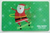 Walmart Gift Card Lenticular - Santa Hoola Hoop, Skateboard /Christmas- No Value