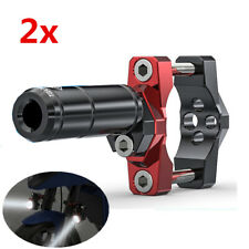 2x 54mm CNC Motorcycle Fork Handlebar Mounting Bracket Post Clamp for LED Light