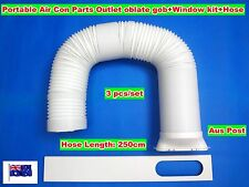 Portable Air Conditioner Part Outlet Oblate Gob+Window Kit+Hose(3pc/Set)250x15cm