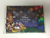 """DISNEY Sweet Memories 4""""x 6""""  Mickey & Friends Fireworks Holographic Photo Frame"""