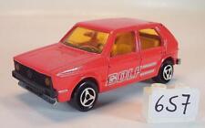 Majorette 1/60 Nº 210 VW VOLKSWAGEN Golf berline rouge Nº 3 #657