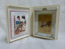 Don Mattingly Signed NY Yankees Highland Mint L/E Bronze Topps 1984 Mint Card