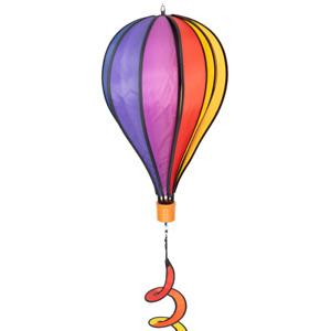 CIM Windspiel Heißluftballon Rainbow Twist Ballon Ø28cmx48cm Gartendeko Deko