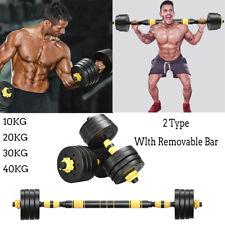 2 Pack Iron Adjustable Weights Dumbbells With Bar Total 10KG-40KG Dumbbells Men
