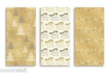 15M Luxury Christmas Foil Wrapping Paper Roll Xmas Gift Wrap Rich Gold White WRG